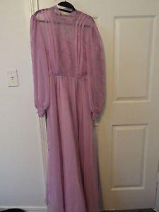 lilac purple chiffon lace vintage dress
