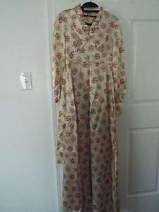 beige satin floral vintage gown