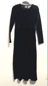 Sarah Chapman vintage dressblack velvet babydoll 90s vintage dress