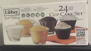 Libbey CRI56347 Glass Just Baking Cupcake 24 Pieces