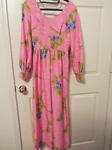 Great Rags lmtd. pink floral vintage poly knit dress