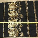 vintage shawl Top Hit wool gold metallic bows MADE IN JAPAN