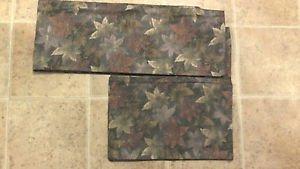 wool hitoe kimono brown leaves