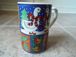 Dunoon Winter Wonderland Christmas collectible mug Jane Brookshaw