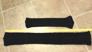 KD Dance pair of black knit arm warmers and leg warmers