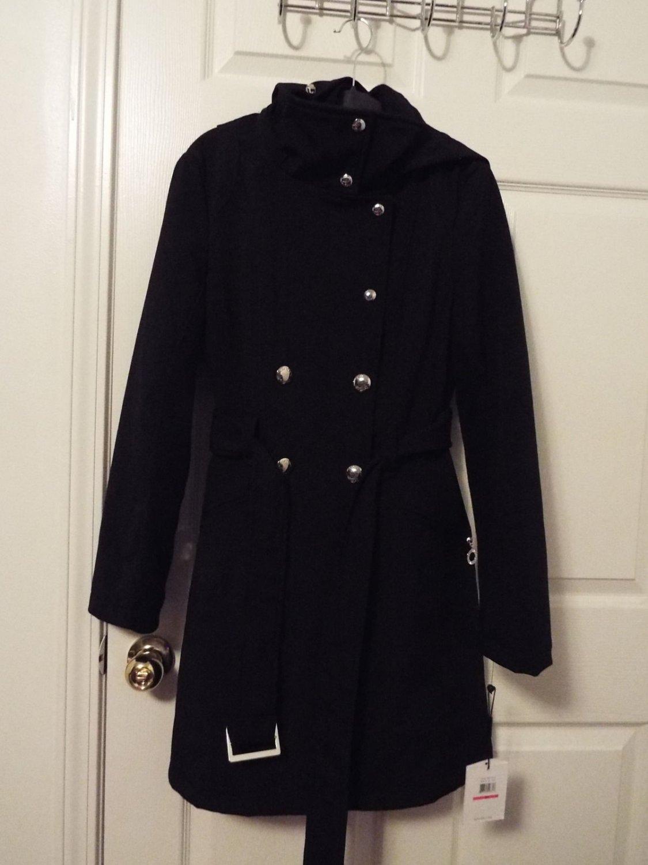 Calvin Klein oversize hood high-neck coat size xs