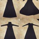 """lot of 4 polyester knit abaya jilbab muslim dress Halloween witchy costume 56"""" xs"""