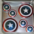 Captain America Shield Foil Magnet Set