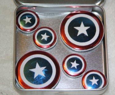 Captain America Shield Foil Magnet Set