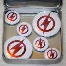 The Flash Logo Foil Magnet Set