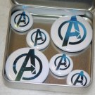 Avengers Logo Foil Magnet Set