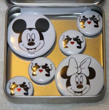 Mickey & Minnie Foil Magnet Set
