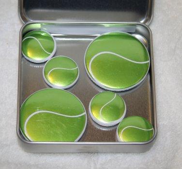 Tennis Ball Foil Magnet Set
