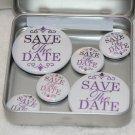 Save The Date Foil Magnet Set