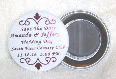 Personalized Save The Date Foil Magnet