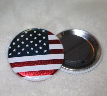 American Flag  Foil Magnet
