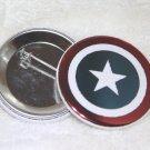 Capitain America Shield Foil Button