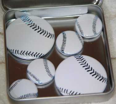 Baseball Foil Magnet Set
