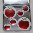 Apple Foil Magnet Set