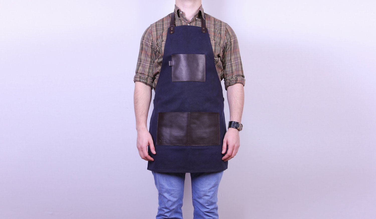 Handmade apron Waxed canvas & Leather apron