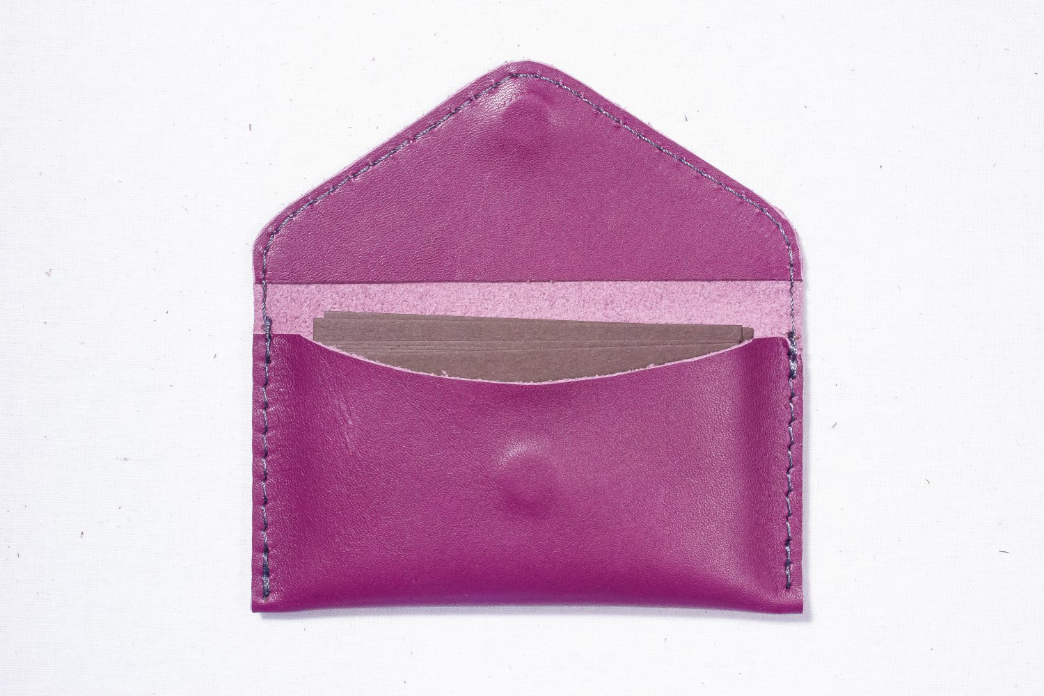 Purple Business card holder wallet case Handmade