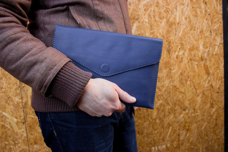 Blue tablet wallet for Ipad Samsung Tablet case