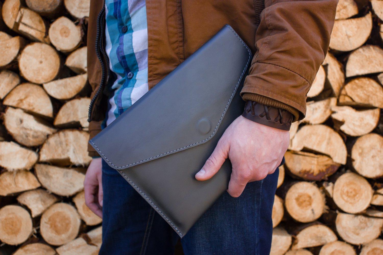 Grey tablet wallet for Samsung Ipad Tablet case