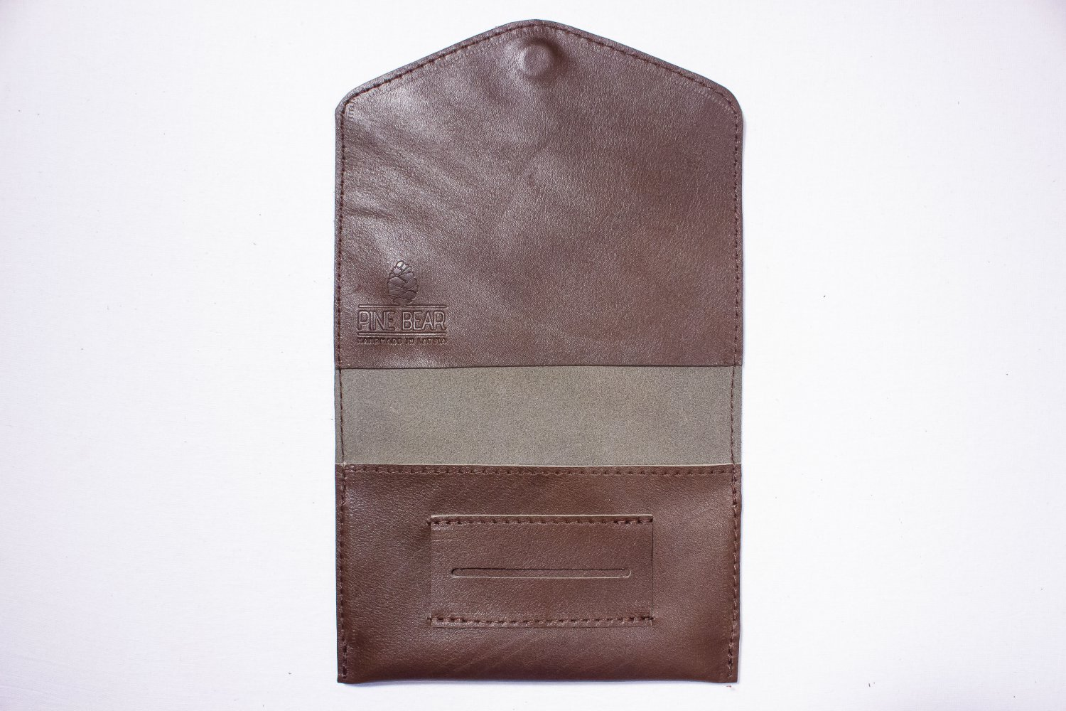 Cognac tobacco pouch Leather tobacco wallet