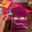 Purple Tobacco pouch Leather tobacco wallet