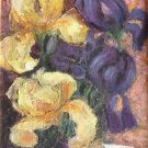 "Oil Painting —Pansies—Fine Art Oil Painting-Size: 12"" x  8"" (30 cm x 20 cm)"