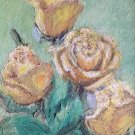"Oil Painting—Yellow Roses—Fine Art Oil Painting-Size: 14"" x  10""(35 cm x 25 cm)"