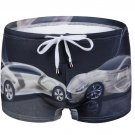 #2021PJ-2 Men's cars printing beachwear swimming boxer shorts swimwear