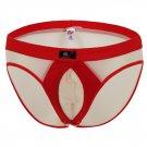 #1002SJ Beige Sexy Men's undwear Ice Silky U bag briefs Underpants panties