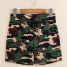 #504 Seobean Camouflage green Men's clothing cotton sports gym running athletics causal shorts