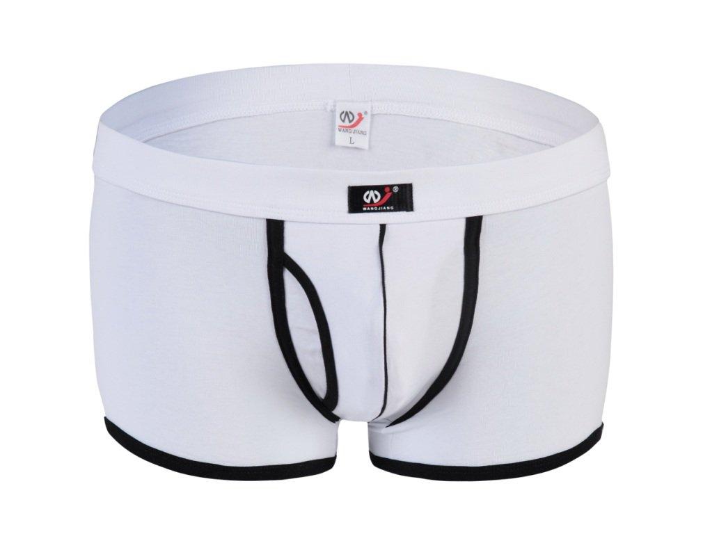 #5002PJ White Men's sexy underwear cotton pouch wangjiang cuecas calzoncillos panties boxer shorts