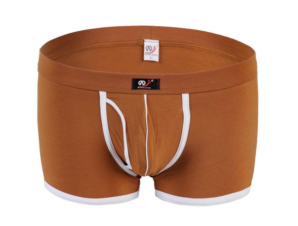 #5002PJ Khaki Wangjiang Men's sexy underwear cotton pouch cuecas calzoncillos panties boxer shorts