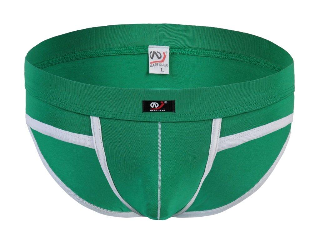 #5002SJ Green Wangjiang Men's sexy underwear cotton pouch cuecas calzoncillos briefs underpants
