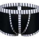 #5003PJ Black wangjiang brand Men's sexy underwear cotton stripes cuecas underpants boxer shorts