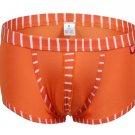 #5003PJ Orange wangjiang brand Men's sexy underwear cotton stripes cuecas underpants boxer briefs