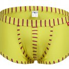 #5003PJ Yellow wangjiang brand Men's sexy underwear cotton stripes cuecas underpants boxer briefs
