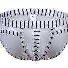 #5003SJ White wangjiang brand Men's sexy underwear cotton stripes cuecas panties briefs