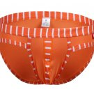 #5003SJ Orange wangjiang brand Men's sexy underwear cotton stripes cuecas panties briefs