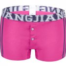 #5006PJ Rose Men's underwear cotton U bag 3D pouch low rise buttons opening underpants boxer briefs