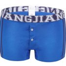 #5006PJ Royal Blue Men's underwear cotton 3D pouch low rise buttons opening underpants boxer briefs