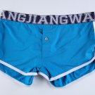 #5006DK Blue Wangjiang men's underwear cotton U bag pouch button opening underpants boxer briefs
