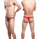 #11007 Gray sexy men underwear Uzhot mesh transparent thongs t-string cuecas