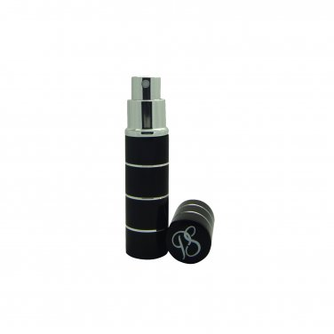Pocket Scents hooped style 5ml refillable perfume travel atomisers boxed (Black)