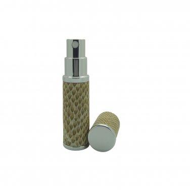 Tan Snakeskin Refillable Perfume Travel Atomisers boxed