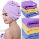 2 Pack Purple Fast Drying Microfiber Hair Towel Wrapped Turbie Twist Wrap USA