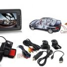 Wireless Car Back-Up Camera System With 3.5 Inch Lcd Color Monitor Screen Remote